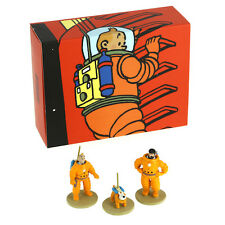 TINTIN MOULINSART HERGE PIXI 46305 - Box of 3 Mini Figurines Moon IN BOX