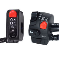 1 Pair Left+Right 7/8 Motorcycle Handlebar Switch   Assembly Control Black+Red