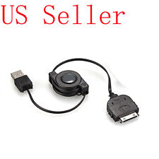 Black Retractable USB Sync Data Charger Cable Cord for iPhone 4 4S 3GS 3G 3 iPod