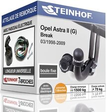 ATTELAGE fixe OPEL ASTRA II G Break 1998-2009 + FAISC.UNIV.7-broches COMPLET