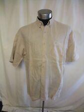 """Mens Shirt Lee Cooper XL stone colour pure linen, pit2pit 25"""", summer 7881"""