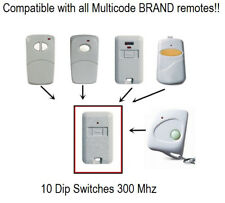 Multi-Code 3089 MultiCode 308911 Linear Mcs308911 Garage Gate Remote Compatible