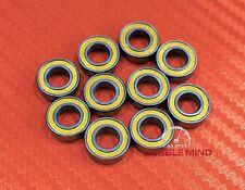 50 PCS MR105-2RS MR105RS (5x10x4 mm) YELLOW Rubber Ball Bearing Bearings 5*10*4