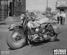 "Vintage Photo ""Period Modified 1937 U-Model"" Molenaar Harley-Davidson"