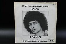 """Izhar Cohen & The Alpha-Beta - A-Ba-Ni-Bi (1978)(Vinyl 7"""")(Polydor – 2001 781)"""