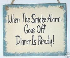 Funny Country Wood Sign Dinner Is Ready Home Decor
