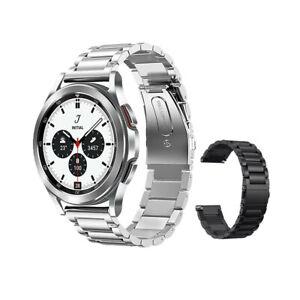 Edelstahl Gliederarmband Uhren Armband für Samsung Galaxy Watch 4 46mm 42mm