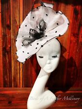 BLACK&WHITE #36 Polka Dot Fascinator Flower Melbourne Cup Wedding Spring Racing