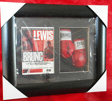 Lennox Lewis vs Frank Bruno Mini Signed Framed Boxing Gloves