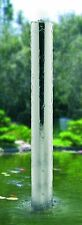 Single LARGE Stainless Steel TUBE Water Feature & Pump - 170mm Ø x 1500mm H