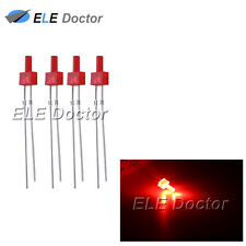 100pcs 2mm Diffused Red-Red Light DIP Flat Top LED Diodes