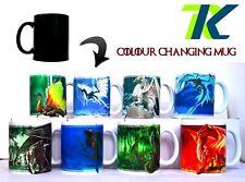 DRAGONS CHANGING COLOUR MUG WITH TEXT HALLOWEEN MUG  Magic Color Changing Heat