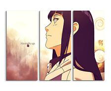 130x90cm - Hinata Hyuga Anime Manga Wandbild auf Leinwand Keilrahmen
