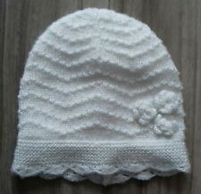 de114f45693 MOTHERCATE BABY GIRL HAT IVORY WHITE SILVER CROCHET KNITTED 6 - 12 MONTHS