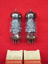 Matched pair ef804 Telefunken nos nuevo rombo tubo Tube New Valve valvula valvola