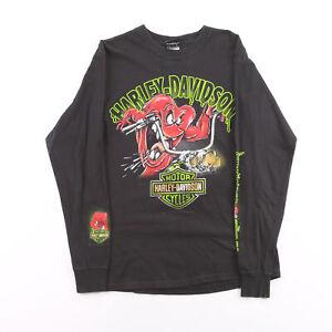 HARLEY-DAVIDSON 2012 Looney Tunes Black Biker Long Sleeve T-Shirt Mens M