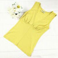 Michael Stars The Original Tee Women's Lime Green V-Neck Knit Tank Top Size O/S
