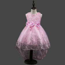 Flower Girls Kids Lace Sequins Party Formal Wedding Pageant Princess Dress New