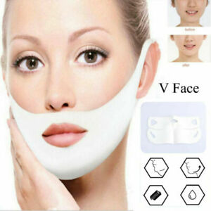 Woman  V-Shaped Slimming Mask and Double Chin Reducer Intense Lifting Layer Mask