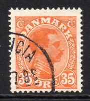 Denmark 35 Ore Stamp c1913-28 Used (4267)