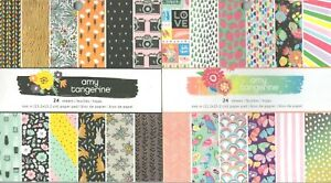 Amy Tangerine 6x6 themed paper pads~Varieties~Super Cute! Quick Ship!