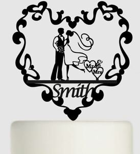Bride & Groom Personal Acrylic Wedding Cake Topper Mr and Mrs Cake Decoration 80