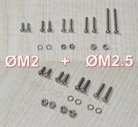 Phono Schrauben Komplettes Set  M2 + M2.5  für Headshell / Tonabnehmer System