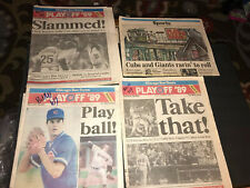 Chicago Newspaper Lot 1989 Cubs Baseball Playoffs Original Sun Times Tribune