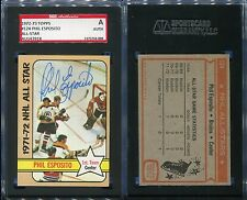 1972-73 TOPPS #124 PHIL ESPOSITO ALL-STAR SGC AUTHENTIC AUTOGRAPH