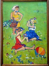 Grande huile sur carton de Grigoriy Semyonov MINSKY(1912-2011), UKRAINE KIEV.