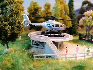 Hubschrauberlandeplatz  | Helicopter Landeplatz | Heliport | Spur N Fertigmodell
