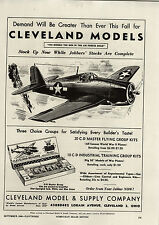 1944 PAPER AD WWII Cleveland Model Airplane Kit Air Force