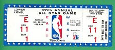 1970 NBA All Star Game Full Ticket at Spectrum Abdul-Jabbar First Game  Reed MVP