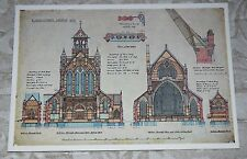 Vintage Postcard - Design for St. Augustine's Church, Kensington - V &A