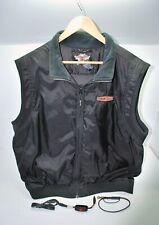 Mens Heated Harley Davidson Vest 2XL Black w/ Switch 12V Gebruik ~ Biker ~ Nice