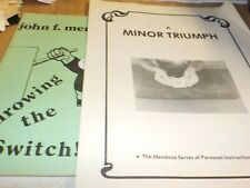 John Mendoza Throwing The Switch & Minot Triumph Booklets