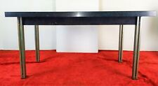 RATIONALIST STYLE  TABLE. CHROME AND PAINTED METAL. MARBLE. EUROPE. CIRCA 1960