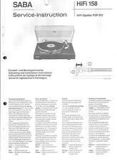Saba Service Manual für PSP 910