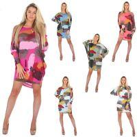 New Ladies Oversized Tunic Dress Mini Top Shirt loose fit  8 - 22 plus size maxi