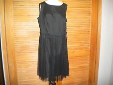 Adrianna Papell Black Evening/Cocktail Lace Netting Women's Size 16W Dress #4479