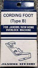 Janome Cording Foot Type B - Overlocker Serger My Lock Piping NEW Elna Lumina