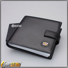 deluxe CADILLAC Leather CD Case Car DVD Holder Disc Album Disk Storage Carry Box