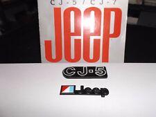 CJ5 emblem, CJ Laredo, CJ emblem, Jeep  emblem, AMC/Jeep emblem