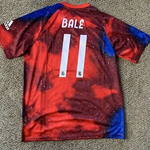 NEW AUTHENTIC REAL MADRID JERSEY GARETH BALE RED XL ADIDAS SPAIN LA LIGA