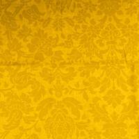 Tessuto Per Tappezzeria Cotone Fantasia Damasco Fiori Giallo Divano Cucina