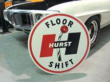 "Hurst 60's Floor Shift Vintage Metal Sign 28"" Gasser Shifter Hot Rod Trans Am"