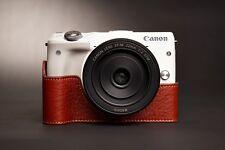 Handmade Genuine real Leather Half Camera Case Camera bag cover for Canon Eos-M3