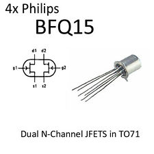 4x BFQ15 Dual N-Channel JFETS in TO71 NOS Philips Semiconductor FET