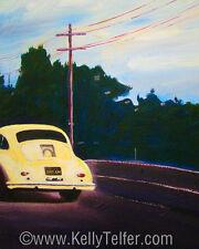 "'California Dream on Hwy 1' 356 Vintage Porsche 16"" X 20"" Print by Kelly Telfer"