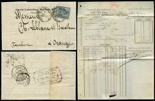 FRANCE 1888 COMPTOIR ARDENNES PERFIN + LETTER CLAUDE LAFONTAINE MARTINET